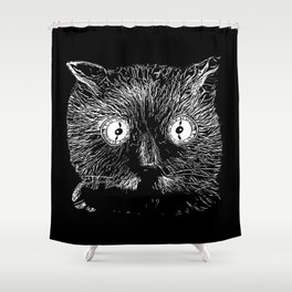 Schrödinger's cat Shower Curtain