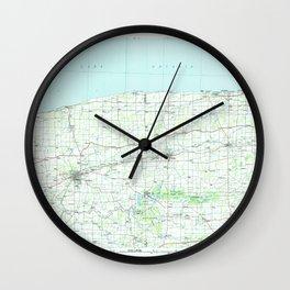NY Lockport 137371 1984 topographic map Wall Clock