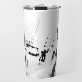 Berlin's streets in black and white Travel Mug
