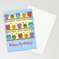 Chilling Summer owls Stationery Cards