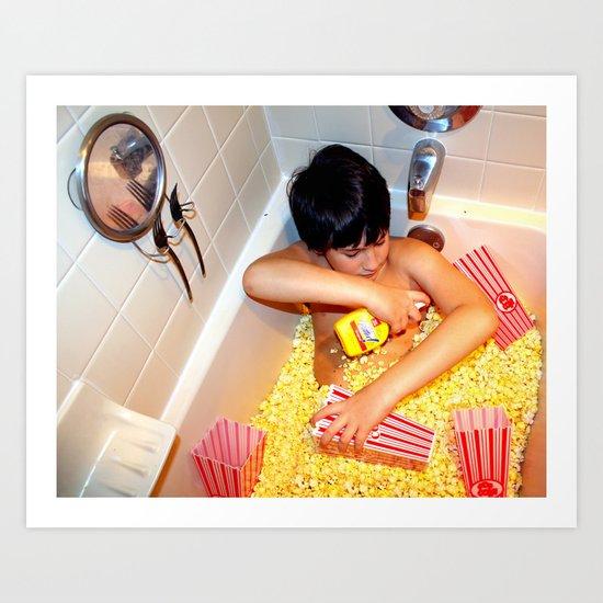 Butter Bath Art Print