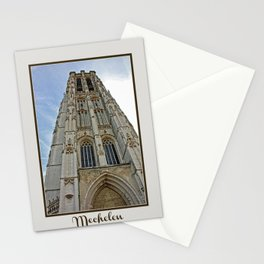 Mechelen Belgium cathedral tower Stationery Cards