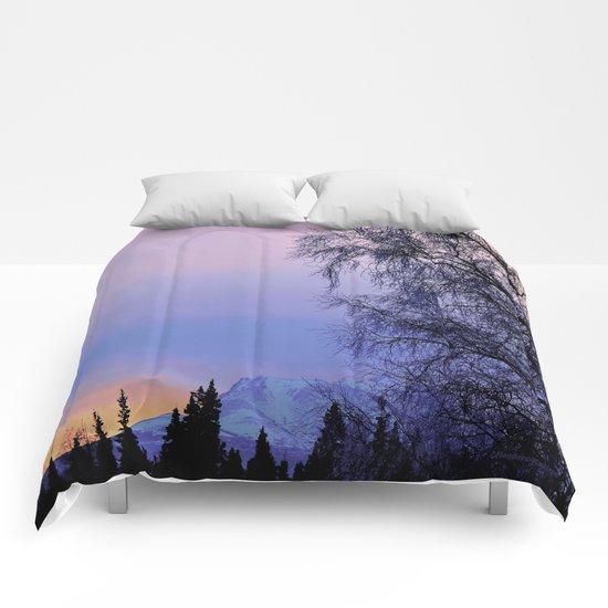 Chugach Mts Serenity Sunrise - I   Comforters