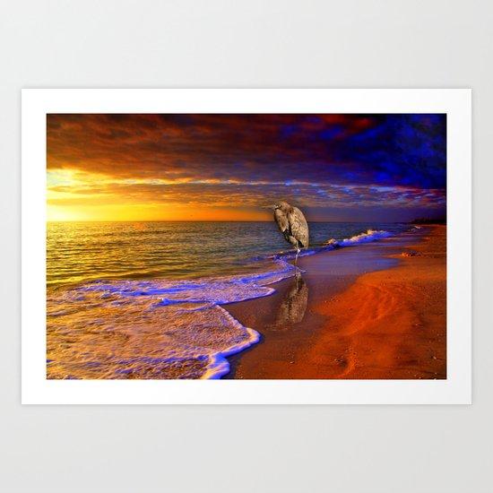 Enjoy the moment.  Sunset over  Sanibel Island, Florida Art Print