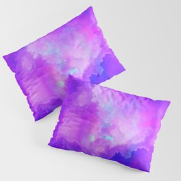 Abstract watercolor colorful painting Pillow Sham