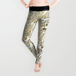 Gold Olive Branches Leggings
