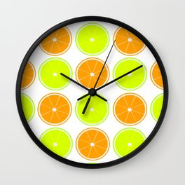Oranges and Limes Wall Clock