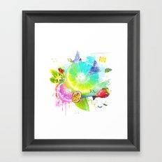 Acid Lima Framed Art Print