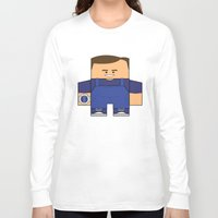 power rangers Long Sleeve T-shirts featuring Mighty Morphin Power Rangers - Billy (The Original Blue Ranger) by Choo Koon Designs