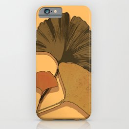 ginko biloba leaves iPhone Case