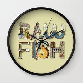 MACHINE LETTERS - RAW FISH Wall Clock
