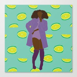 Sassy Lime Bawse Canvas Print