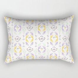 Yellow Purple Wildflower Rectangular Pillow