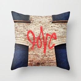 Spray Painted Love Throw Pillow
