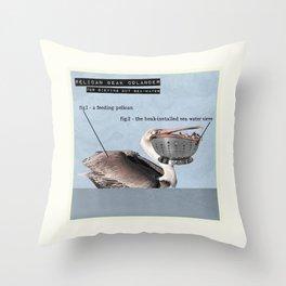 Pelican Beak Colander Throw Pillow