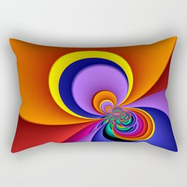 time for fractals -5- curtain Rectangular Pillow