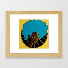 CHOCOLATE SWIRL Framed Art Print