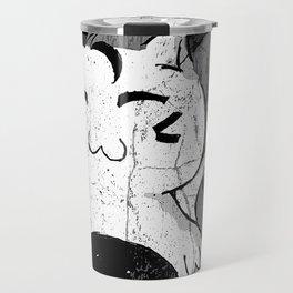 Dilly Kawaii Cat Art Print Travel Mug