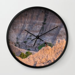Wild Turkey in the Badlands Wall Clock