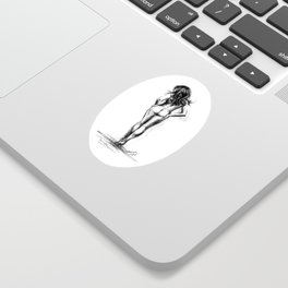 Nude female figure Sticker