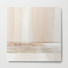 Fragments 6 - abstract pink wood stripe Metal Print