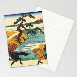 Katsushika Hokusai - 36 Views of Mount Fuji (1832) - 22: Barrier Town on the Sumida River Stationery Cards