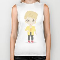 golden girls Biker Tanks featuring Girls in their Golden Years - Blanche by Ricky Kwong