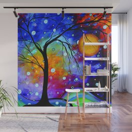"""""""Winter Sparkle"""" Original Whimsical Contemporary Painting, Art by Megan Duncanson MADART Wall Mural"""