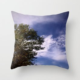 Sky and Tree Throw Pillow