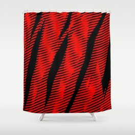 Red Stripe Shower Curtain