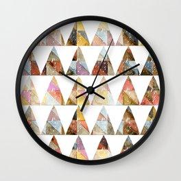 watercolor pattern pyramidwatercolor pattern pyramid Wall Clock
