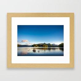 Ducks on Lake Derewentwater near Keswick, England Framed Art Print