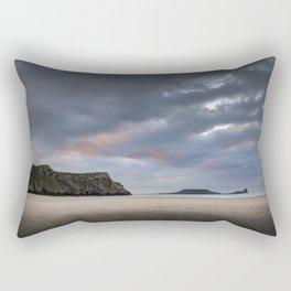Rhossili Bay sunset Rectangular Pillow