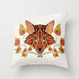 fox autumn Throw Pillow