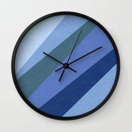 Shades of Sea Wall Clock