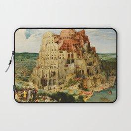 """Pieter Bruegel (also Brueghel or Breughel) the Elder """"The Tower of Babel (Vienna)"""" Laptop Sleeve"""