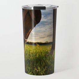 Grazig at Sunst Travel Mug