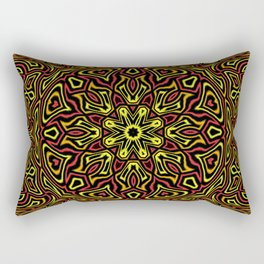 Red Orange and Yellow kaleidoscope Rectangular Pillow