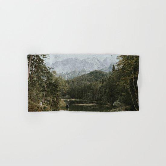 Mountain lake vibes II - Landscape Photography Hand & Bath Towel