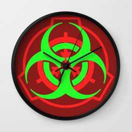SCP Biohazard symbol Wall Clock