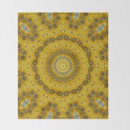 Gelbe Forsithien in Gross Throw Blanket