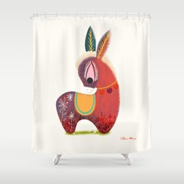 The Little Donkey without a Tail  Shower Curtain
