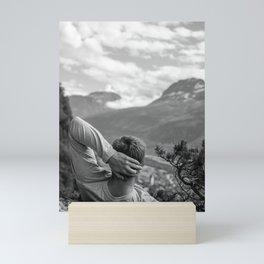 Mountain Gazing (Black and White) Mini Art Print