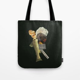 Black Fish Tote Bag