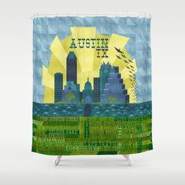 I love Austin, TX Shower Curtain