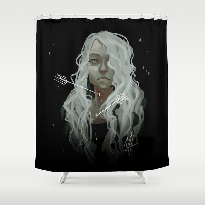 White Arrows Shower Curtain