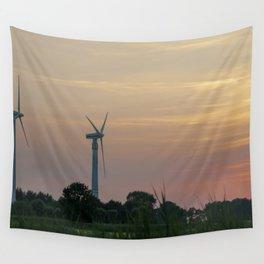 ad solis occasum ventus turbines ab Horumersiel Wall Tapestry
