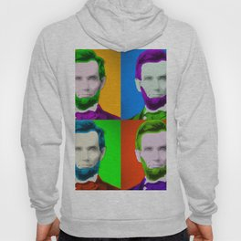 Abraham Lincoln Pop Art Print Hoody