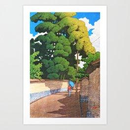12,000pixel-500dpi -Kawase Hasui - Kanazawa Shimohonda Town, Noon, The Series Souvenirs Of Travel II Art Print