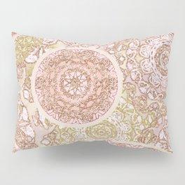 Rosey Gold Mandalas Pillow Sham
